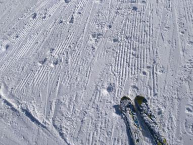 Winter am Obertauern - die Piste ist von der Neuhofalm auf Skiern erreichbar