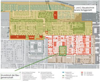 Lage des Grundstücks im Hanseviertel III (Bild: Sparkasse Hanse Immobilien GmbH)