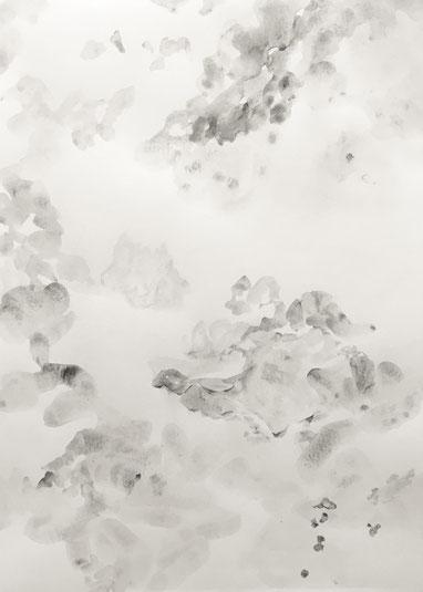 o.T., 2020, Tusche, Bleistift auf Papier, 29.7x 21 cm