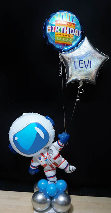 Ballon Luftballon Heliumballon Deko Dekoration Überraschung Mitbringsel Ballonpost Ballongruß Versand verschicken Astronaut Planet Stern Geburtstag happy birthday Geschenk Idee Ballonpost Bouquet Heliumballons Mottoparty Space All