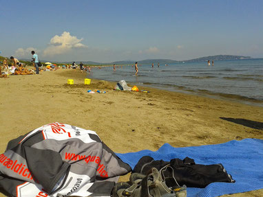 am Strand bei Orbetello