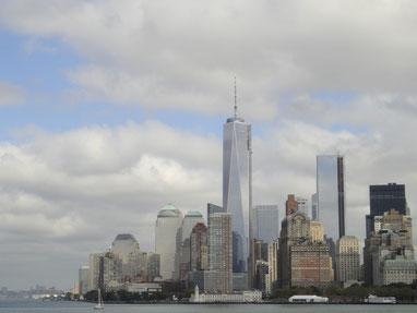 フェリーから見たマンハッタン南端