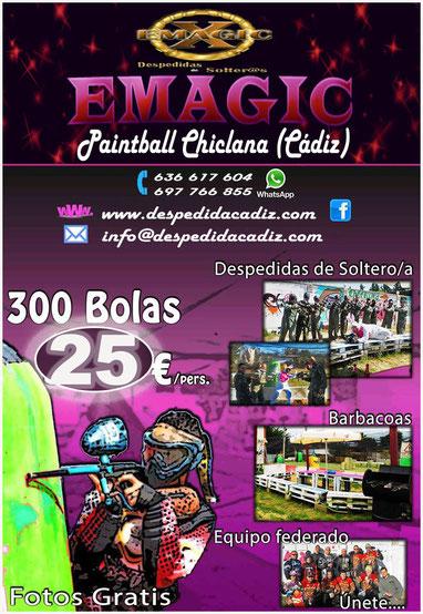 Pack paintball y cena en la taberna del pirata en Chiclana