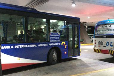 フィリピン航空のバスはこのようなバスです。