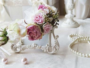 Ruvery Wedding 花冠 アーティフィシャルフラワー