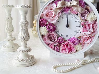 広島大人の習い事アーテイフィシャルフラワー花時計