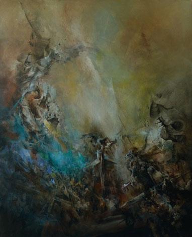"""""""Les aloades"""" acrylique sur toile Dim 160cmx130cm"""