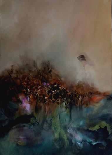 l'enfer VII Acrylique sur toile Dim 100cmx72cm