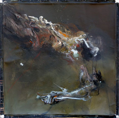 Sans titre acrylique sur toile Dim 120cmx120cm