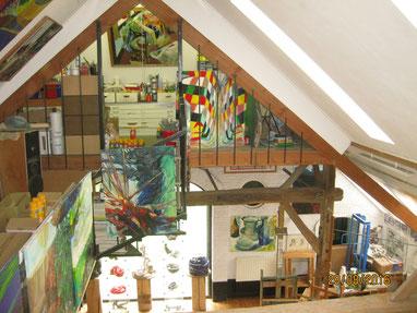 met professionele begeleiding en in  professionele omgeving schilderen in Gelderland (Tonden)