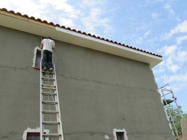 pose de dessous de toit et planche de rive
