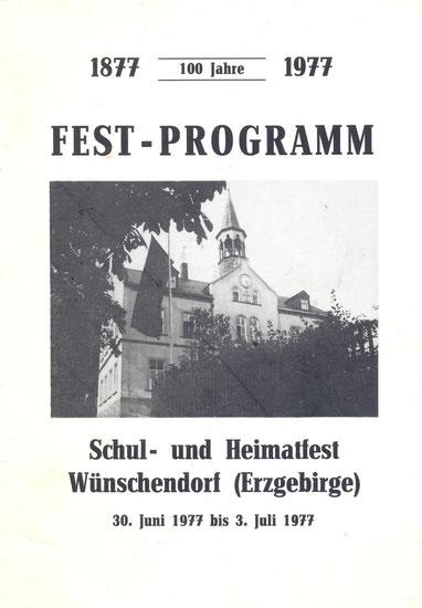 Bild: Teichler Wünschendorf Erzgebirge Programm Schulest 1977
