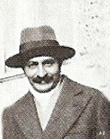 Meher Baba in France, 1932. Cropped image by A. Zois