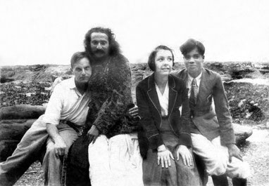 MSI Collection ; 1931 - Baba with Herbert Davy , Zilla Cluse & Agha Ali