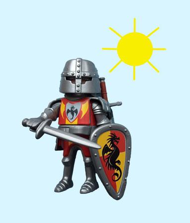 Ritter im Sonenschein