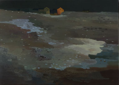 "Martin Guido Becker, ""Ebene"", 2014, Öl/Lwd, 50/70 cm"