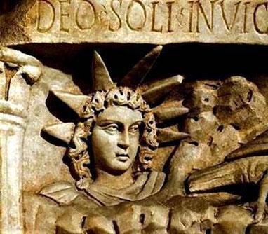 """Le choix s'est porté sur le 25 décembre, qui correspondait à la fête romaine du """"soleil invaincu"""" (Sol invictus en latin). Un culte païen destiné à célébrer le solstice d'hiver, c'est à dire ce moment de l'année où les journées commencent à rallonger."""