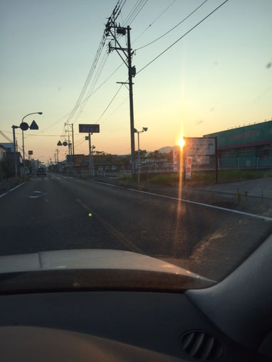 朝日を見ながらドキワク~