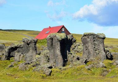 Ferienhaus in irischer Landschaft
