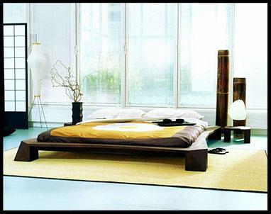 Futon ispirato a quello tradizionale con rialzo dal pavimento