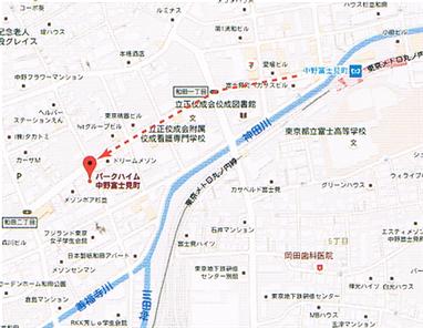 「佐倉一樹」音楽教室までのマップ