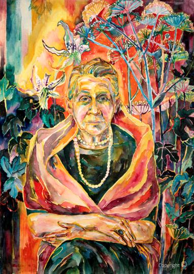 Bettina Heinen-Ayech (1937-2020) - Erna Heinen-Steinhoff mit Perlenkette, 1962