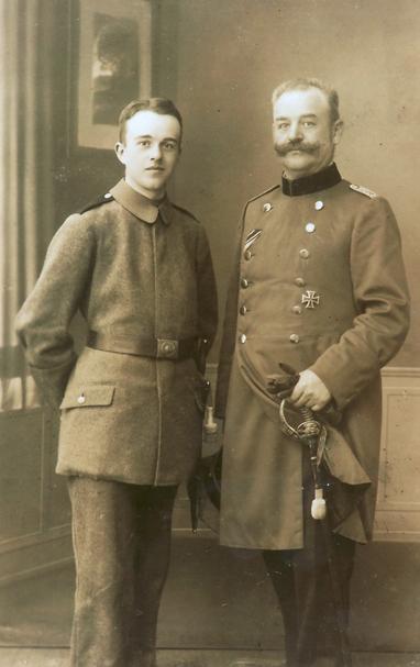 Erich Bowien und sein Sohn Erwin im Dezember 1917 in Straßburg