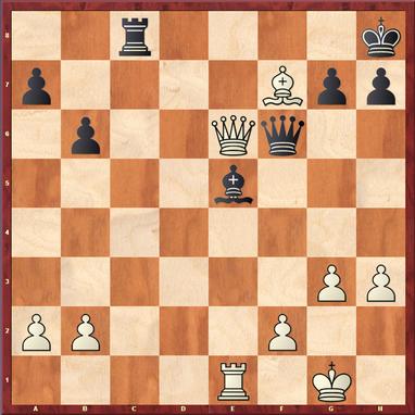 Straßner - Schymainski: Weiß gewann hier nach 28.De6! Dxe6? (bessere Remis-Chancen für Schwarz bot das Turmendspiel nach 28. ... Tf8 29.Txe5 Txf7 30.Dxf6 gxf6) 29.Lxe6 Tc5 30.b4 Lc3 31.bxc5! Lxe1 32.c6 1-0