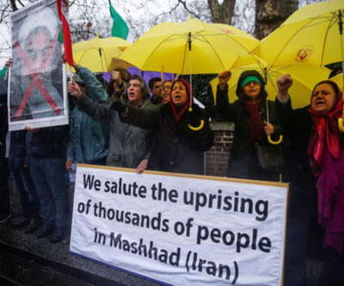 Weekendens solidaritetsmanifestation foran den iranske ambassade i London