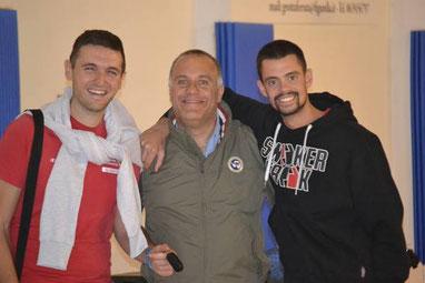 Matteo Apa (a sinistra), con Busti e Catanzani M.