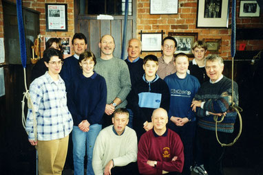 Castle Bromwich ringers on New Year's Day 2000