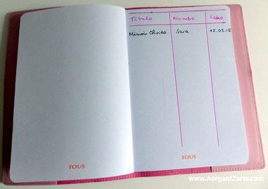 Anota los libros que prestas con la fecha y el nombre de la persona - AorganiZarte