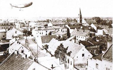 Ortskern Altglienicke mit Grünauer Str. vermutlich um 1909