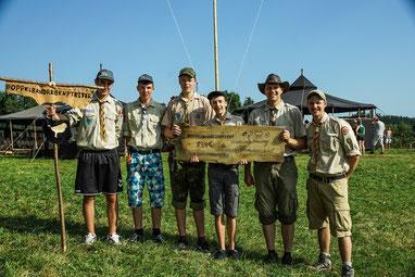 Pfadrangerteam der Jungs - regionales Sommercamp 2015