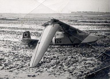 Missglückte Landung des Grunau Baby