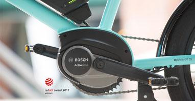 Der neue Bosch Active Line Antrieb ist besonders kompakt und leicht, sodass er sich optisch perfekt in e-Bike Rahmen integrieren lässt.