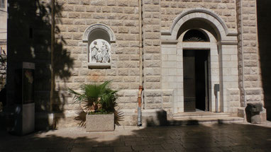 The entrance to St. Joseph's Church