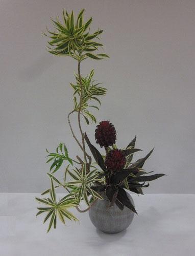 2013.9.24 全道いけ花美術展にて