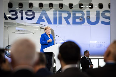German Chancellor Angela Merkel promised government support for new technologies reducing CO2 emissions  - picture gvmt