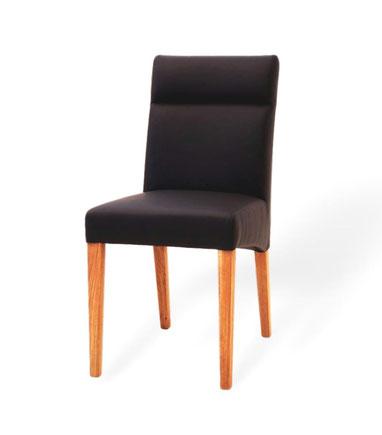 moderner Esszimmerstuhl aus Leder und eiche