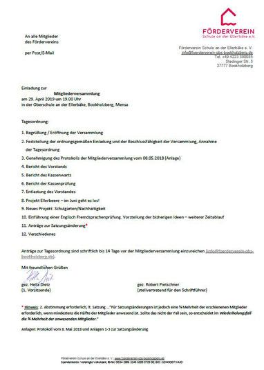 Einladung_Mitgliederversammlung Förderverein Oberschule an der Ellerbäke
