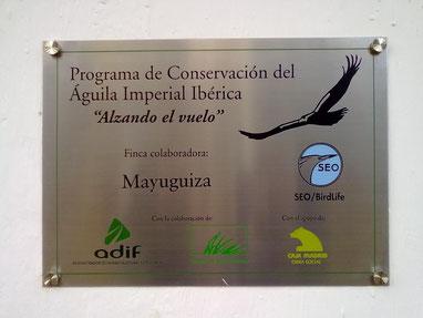 """Finca MAYUGUIZA, dentro del Programa de Conservación """"Alzando el Vuelo"""""""