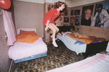 Janet Hodgson durante un effetto poltergeist