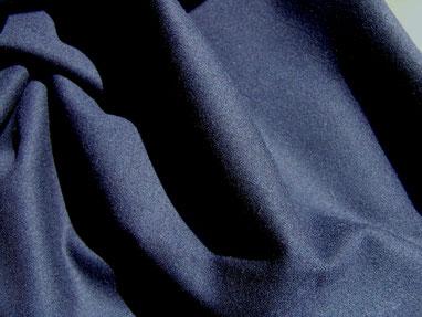 Woll-Gabardine in nachtblau