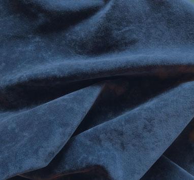 Baumwoll-Samt, tiefblau