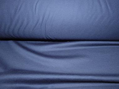 Trikot-Jersey aus Baumwolle in dunkelblau
