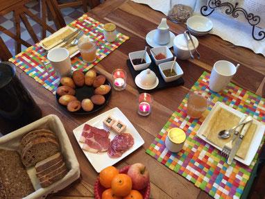 Frühstück im Chambres d'hötes Domaine de Joreau