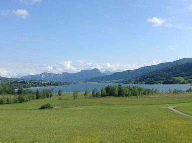 Aussicht von der Praxis Panta Rhei in Oberhofen