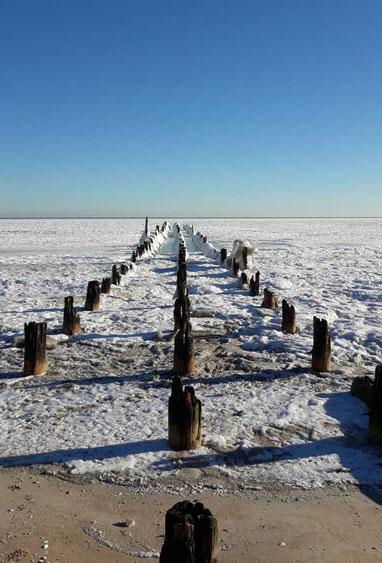 Die zugefrorene Ostsee
