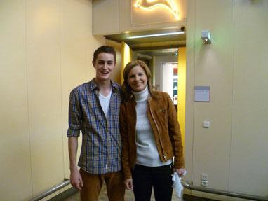 Kai mit der Moderatorin Katrin Müller-Hohenstein beim ZDF in Mainz